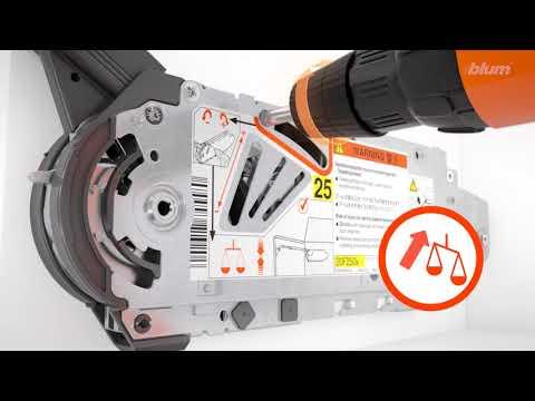 Быстрый монтаж и регулировка Aventos HF BLUM