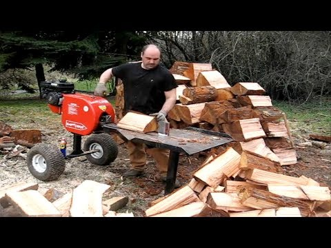 EXTREME Fastest Modern Firewood Processing Machine, Amazing Homemade Log Splitter Wood Processor