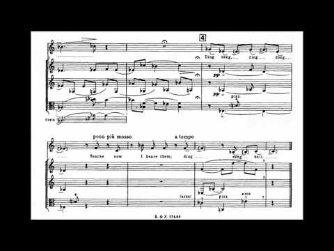 Igor Stravinsky - Three Songs from William Shakespeare for Voice and Ensemble (1953) [Score-Video]