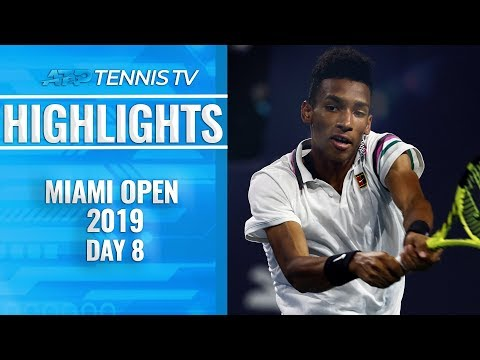 Federer at dominant best; Auger-Aliassime makes history | Miami Open 2019 Day 8 Highlights