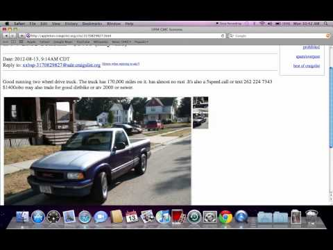 Craigslist Oshkosh Wisconsin Used Cars and Trucks - For Sale by