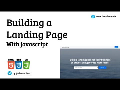 Build A Landing Page With CSS/HTML/Javascript And Deploying To ZEIT NOW - Coding Bootcamp Class LIVE
