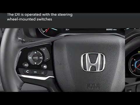 Honda Pilot: How to Use the Driver Information Interface (DII)