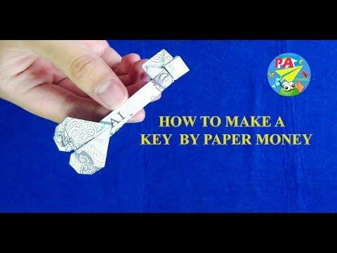 Money Origami Hướng dẫn gấp chìa khóa bằng tiền giấy
