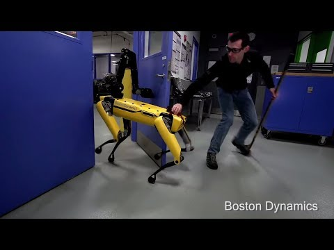 Тяжёлые будни робота из Boston Dynamics