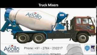 Types of Concrete Equipments by www.apolloinfratech.com