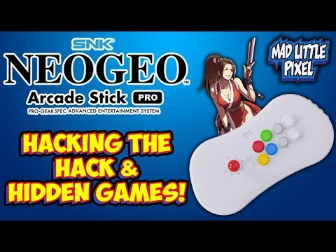 Hacking The Hack & Hidden Games On The Neo Geo Arcade Stick Pro!