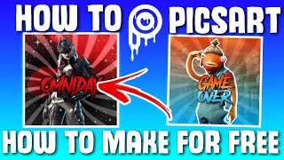 Comment faire un logo PicsArt Fortnite! Gratuit (IOS/ANDROID)