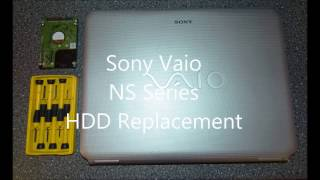 Tutorial Sony Vaio NS Series HDD Replacement HD   disassembly