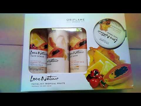 609b0ca2d0 Unboxing Oriflame Love Nature facial kit tropical fruits - YouTube