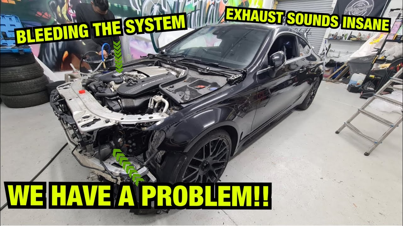 HAVING PROBLEMS FITTING THE FRONT END OF MY SALVAGE MERCEDES C63!!!  COPART UK (P4)