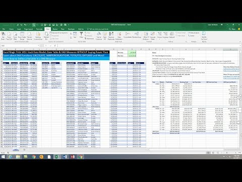 Excel Magic Trick 1451: Hack Data Model, Date Table & DAX Measures WITHOUT buying Power Pivot