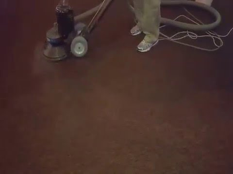Commercial carpet cleaning  in restaurant with Rotary jet extractor