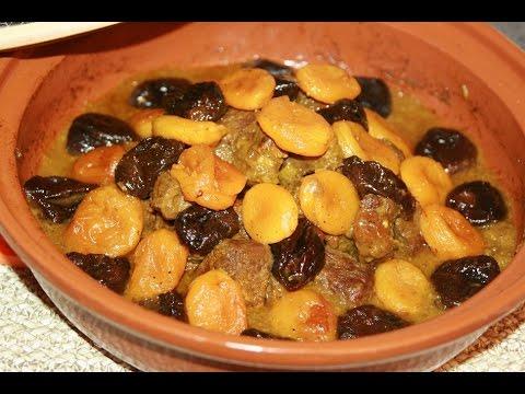 tagine-viande-aux-pruneaux-&-abricots---meat-tagine-with-prunes---طاجين-مغربي-باللحم-والبرقوق