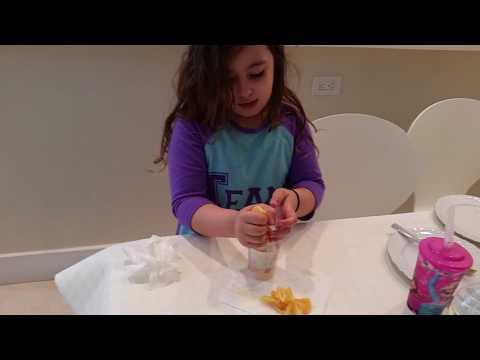 Rivka Gilinski making orange juice June 19 2016