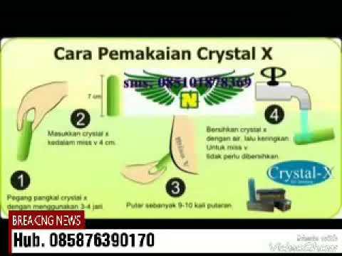 Cara Pemakaian Crystal X Ncx Pt Natural Nusantara Youtube