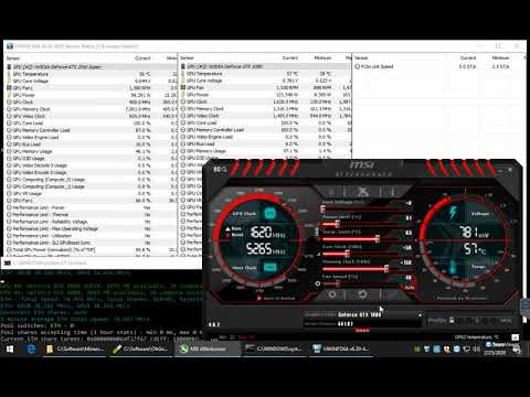 RTX 2060 Super Vs. GTX 1080 Mining ETH Ethereum Hashrate With Overclock And The Pill