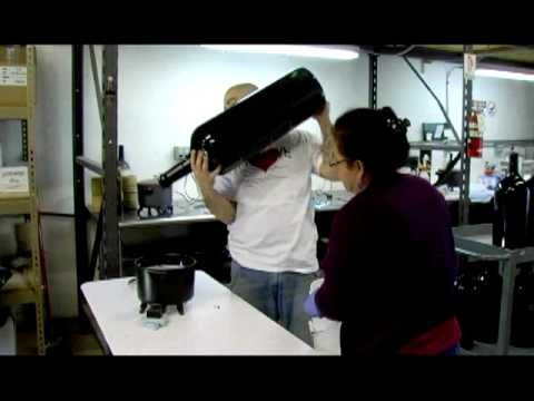 Wax Dipping A Large Format Wine Bottle Youtube