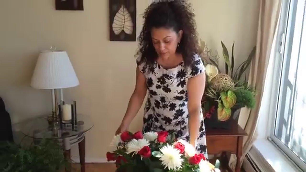 Como Hacer Arreglo Floral Ovalado
