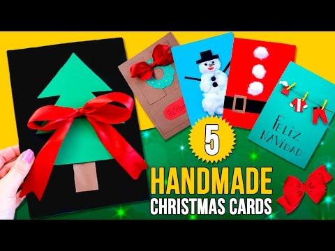 5 DIY CHRISTMAS CARDS for kids🎄 Handmade CARDS for CHRISTMAS.