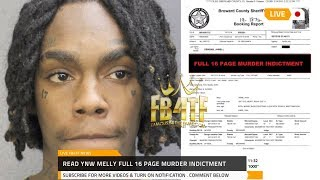 YNW Melly Full 16 page Double Murder indictment details arrest & charges