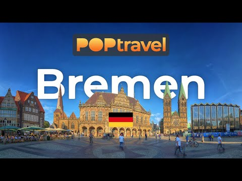Walking in BREMEN / Germany 🇩🇪- Central City - 4K 60fps (UHD)