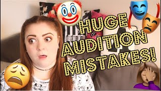 THE BIGGEST MUSICAL THEATRE AUDITION MISTAKES!