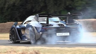 McLaren Senna Sound In Action - Acceleration, Downshifts, Revs & Burnout!