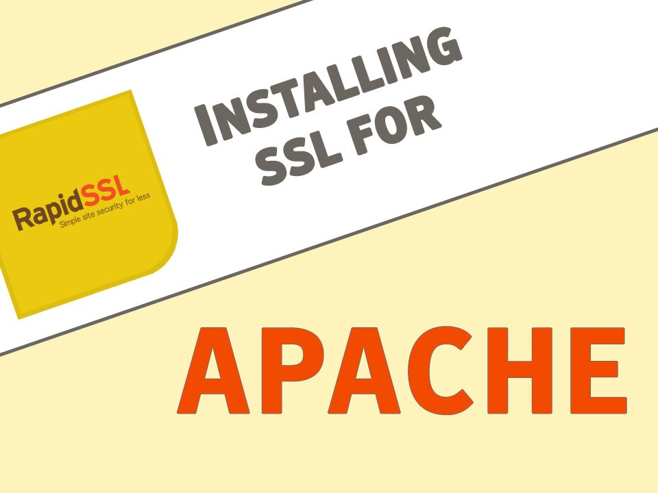 Install an SSL Certificate for Apache Servers - YouTube