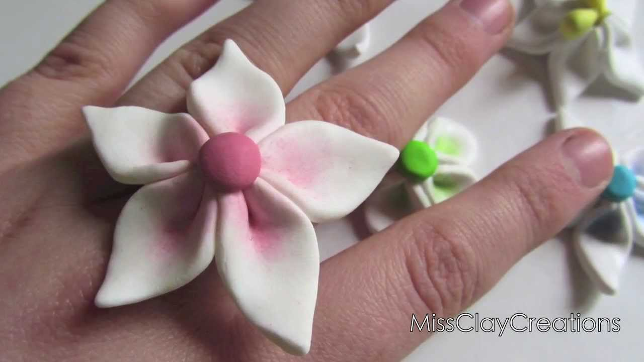 Clay Flower Tutorial For Beginners By MissClayCreations