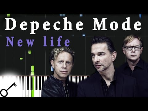 Depeche Mode  New life Piano Tutorial Synthesia  passkeypiano