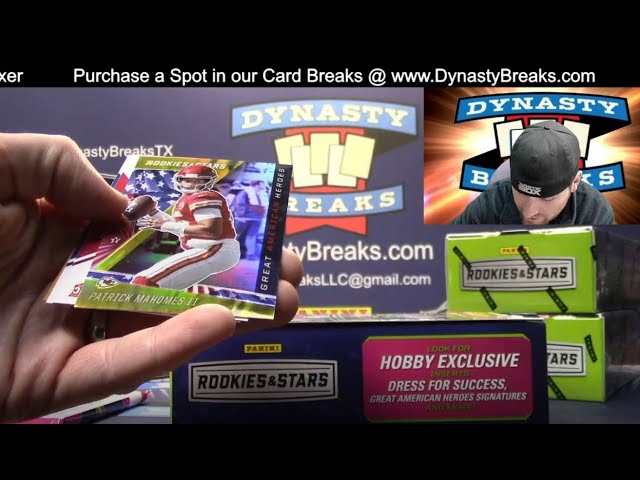 2020 Rookies and Stars Football Card 6 Box Partial Case Break #5   Sports Cards
