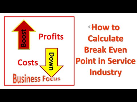 How To Calculate Break Even Point In Service Industry
