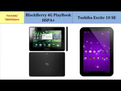 BlackBerry 4G PlayBook HSPA+ - Toshiba AT300SE, Full Specs Comparison
