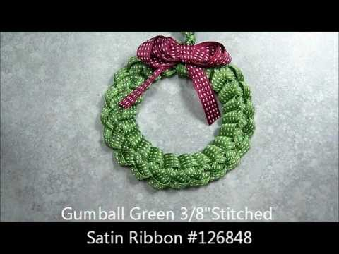 Ribbon Wreath Ornament Tutorial Youtube