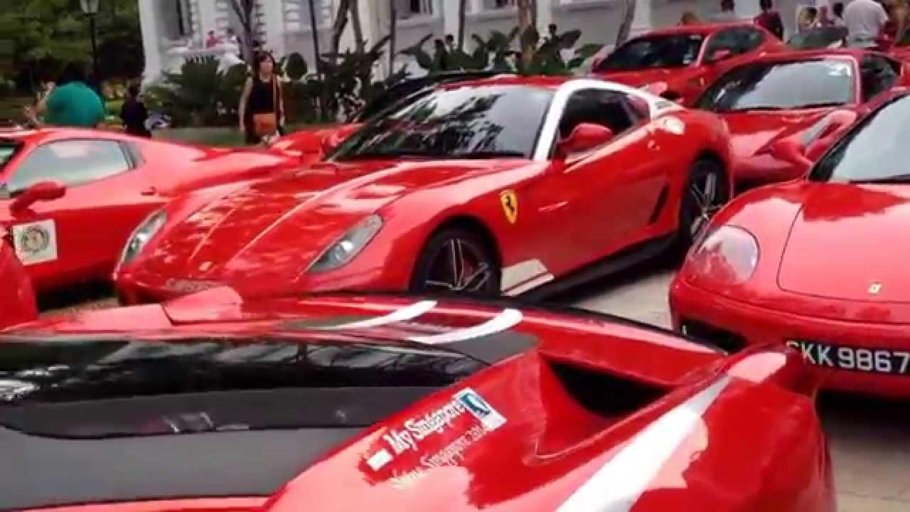 Ferrari Owners  Club Singapore event in National Museum of Singapore ... cbf7a6b1304e