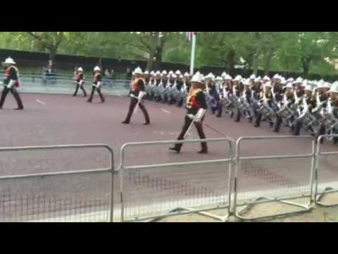 Massed Bands of the Royal Marines Beating Retreat 2016 part 1
