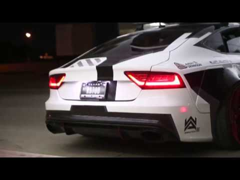 Audi Rs7 With Loud Armytrix Exhaust System Youtube