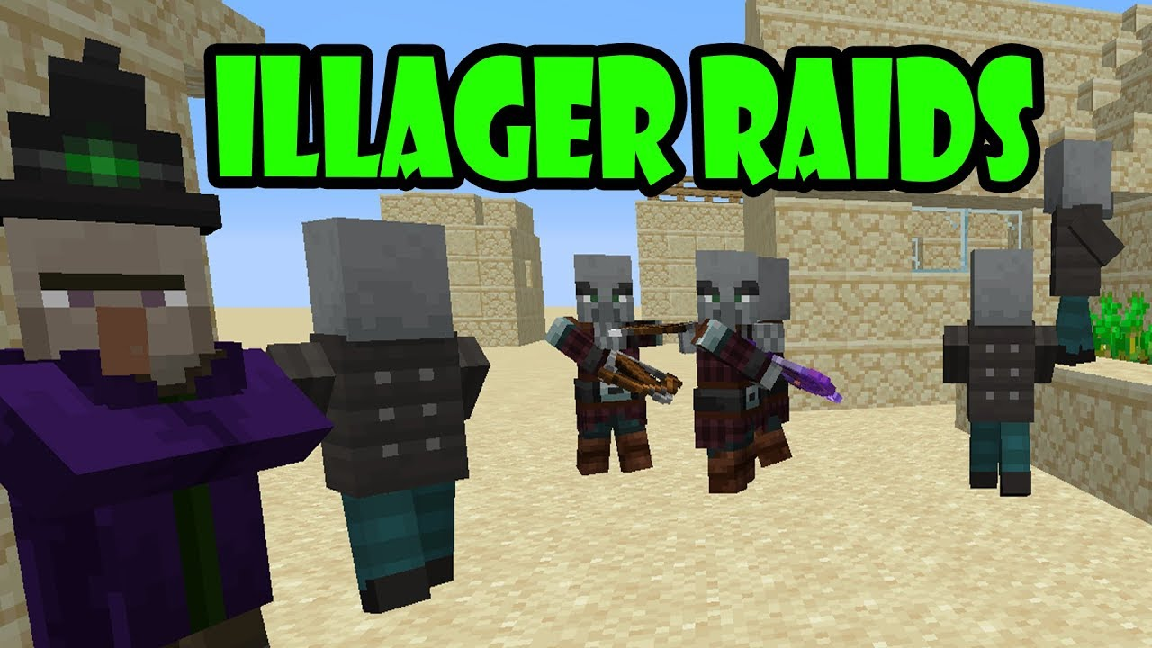 The Illager Raids Are Here | 18w47b Snapshot | Minecraft 1 14
