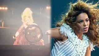 Adele IMPERSONATES Beyonce & Scolds Security Guard At Concert For Yelling At Fans