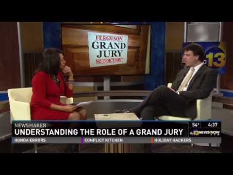Interview with WVEC Channel 13 reporter Janet Roach regarding the grand jury process.   Credit (and thanks) to WVEC Channel 13 for the opportunity to use this video.