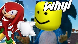 "Knuckles Reacts To: ""Sonic Trailer 2019 [ROBLOX EDITION]"""