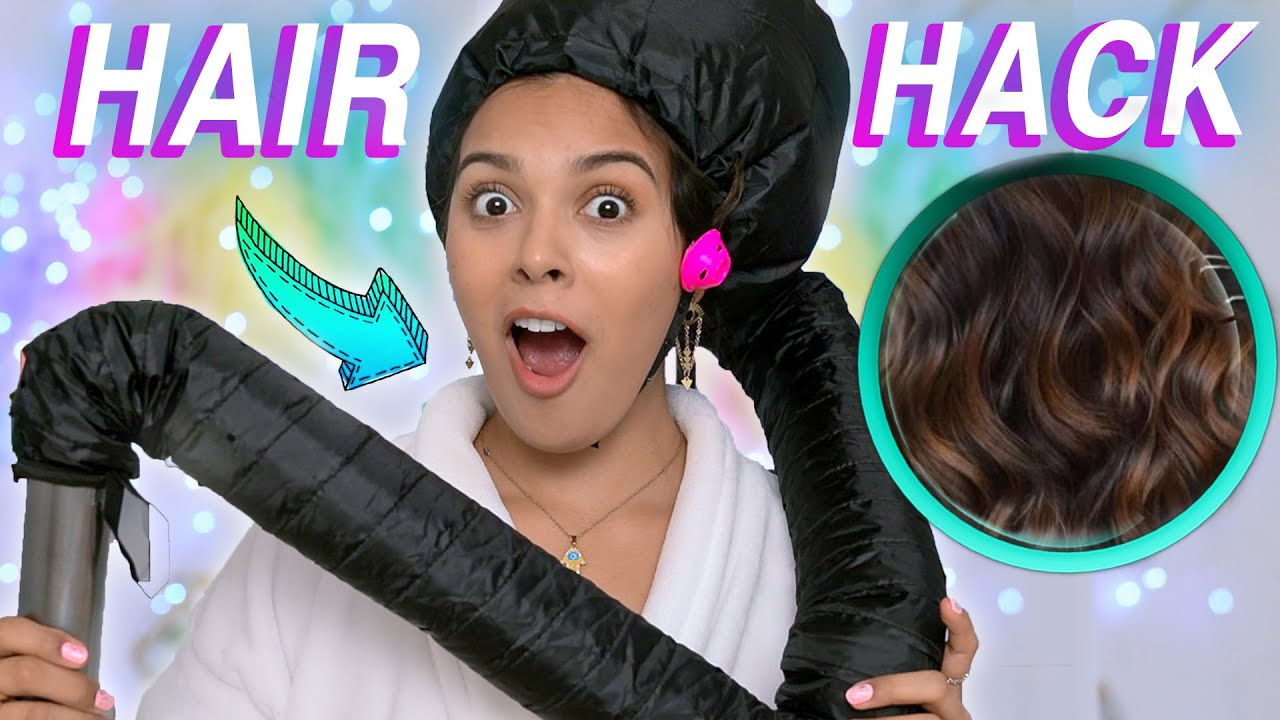 Testing Weird Hair Hack for LAZY PEOPLE! Quick & Easy Hairstyle Gadget!