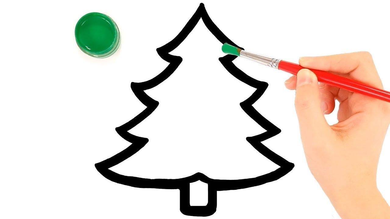 Cara Menggambar Dan Mewarnai Pohon Natal KiKi Toy Art