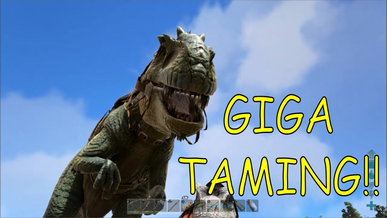 ark survival evolved xbox one  first giga tame  youtube