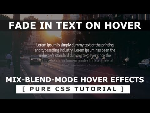 Fade In Text Hover Effect - CSS mix-blend-mode - Html5 CSS3 Hover Effects