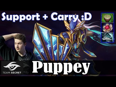 Puppey - Silencer Safelane | Support + Carry :D | Dota 2 Pro