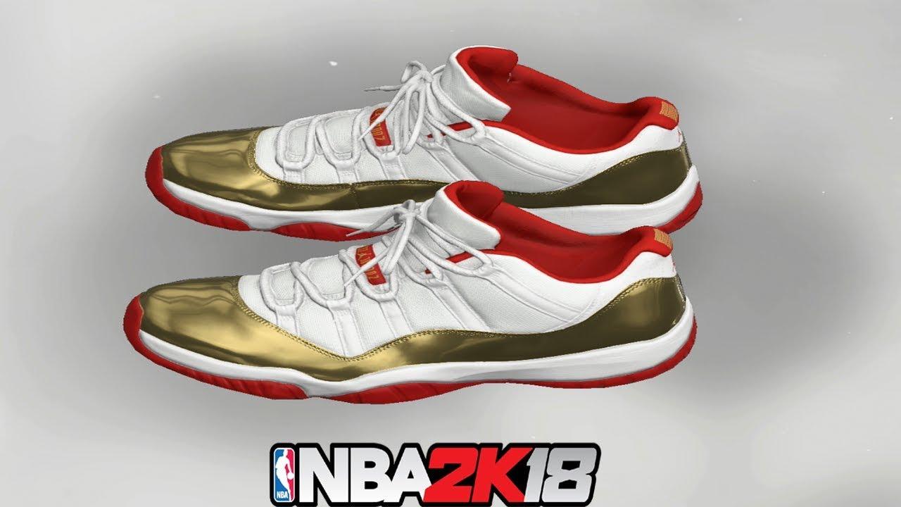NBA 2K18 Shoe Creator ⋆#NBA2K18⋆ Jordan 11 Low Two Rings