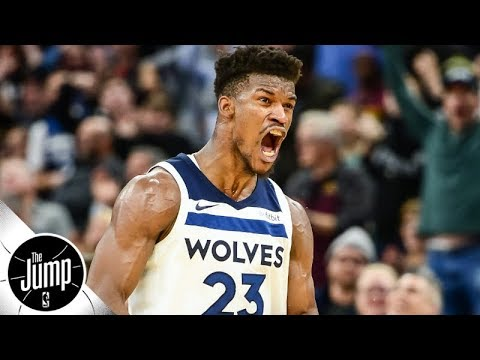 Jimmy Butler \'dominates\' Wolves scrimmage, screams \'you can\'t win without me\' | The Jump