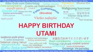 Utami   Languages Idiomas - Happy Birthday